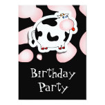 "Cartoon cow, invitation 5"" x 7"" invitation card"