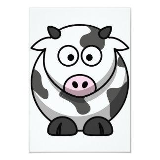 "Cartoon Cow Invitations 3.5"" X 5"" Invitation Card"