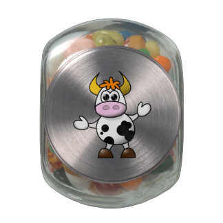 Cartoon Cow Jelly Belly Candy Jars
