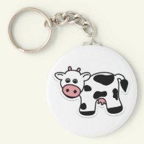 Cartoon Cow Keychain