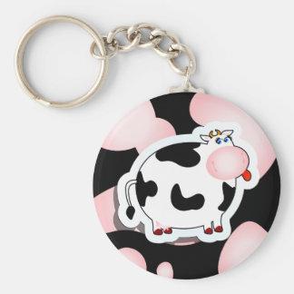 Cartoon cow, keychain