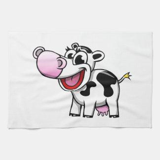 Cartoon Cow Kitchen Towel