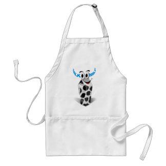 Cartoon cow milk packaging adult apron