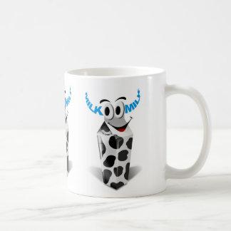 Cartoon cow milk packaging coffee mug