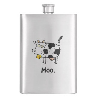 Cartoon Cow Moo Flask