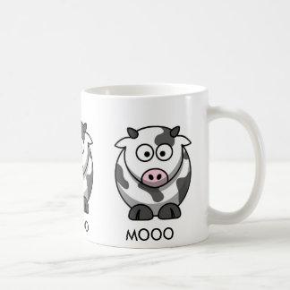 Cartoon Cow MOOO (3x around) Coffee Mugs