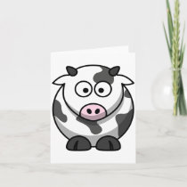 Cartoon Cow Note Cards
