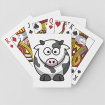 Cartoon Cow Playing Cards