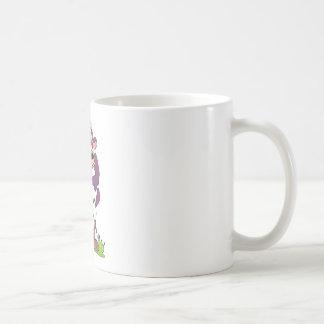 Cartoon Cow Purple Coffee Mug