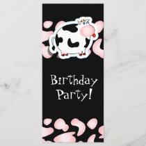 Cartoon cow, rack card