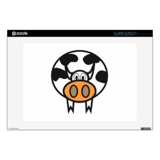 """Cartoon Cow 13"""" Laptop Decal"""