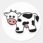 Cartoon Cow Sticker