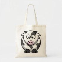 Cartoon Cow Tote Bag