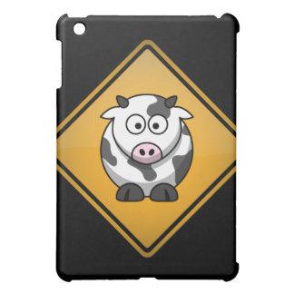 Cartoon Cow Warning Sign iPad Mini Covers