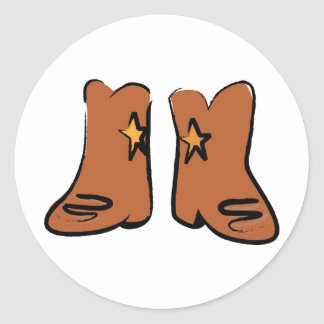 Cartoon Cowboy Boots Stickers