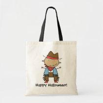 Cartoon cowboy customizable trick or treat bag