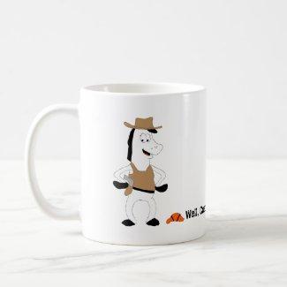 Cartoon Cowboy Horse Basketball Player Coffee Mug