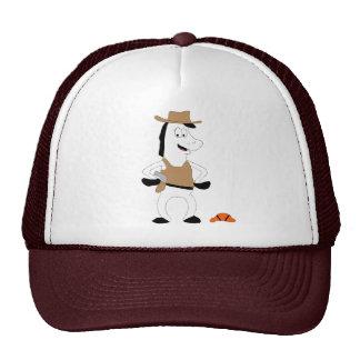 Cartoon Cowboy Horse Basketball Player Trucker Hat