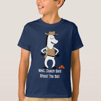 Cartoon Cowboy Horse Basketball Player T-Shirt