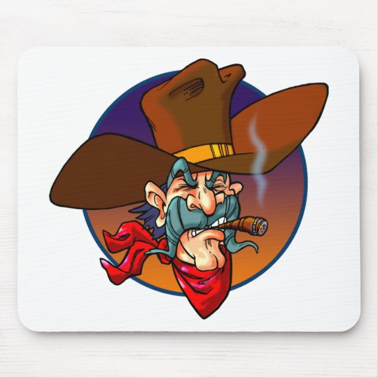 Cartoon Cowboy Mouse Pad