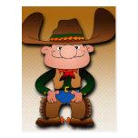 Cartoon Cowboy Post Card