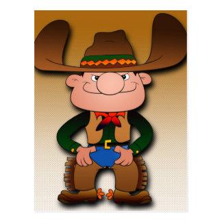 Cartoon Cowboy Postcard