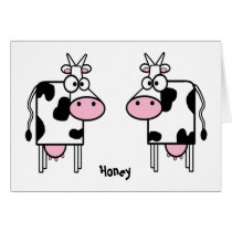 Cartoon Cows Love Card