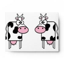 Cartoon Cows Love Envelope