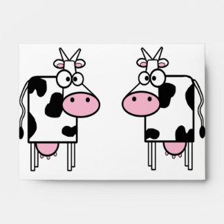 Cartoon Cows Love Envelopes