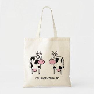 Cartoon Cows Love Tote Bag