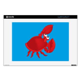 """Cartoon crab 13"""" laptop decal"""