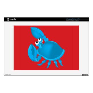 """Cartoon crab 13"""" laptop skins"""