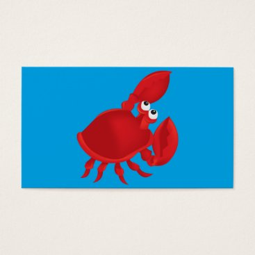 Beach Themed Cartoon crab business card