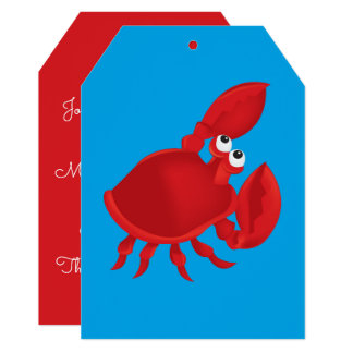 Cartoon crab card