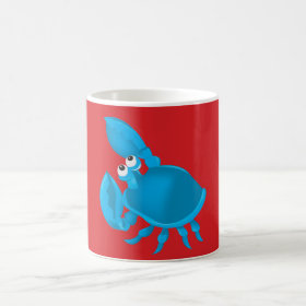 Cartoon crab coffee mug