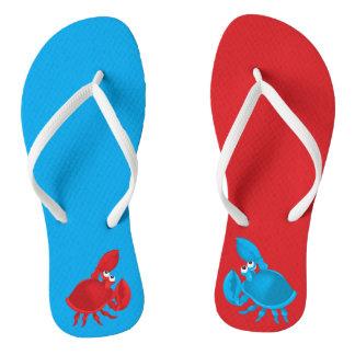 Cartoon crab flip flops