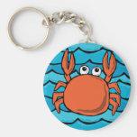 Cartoon Crab Key Chains