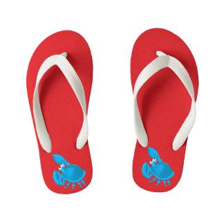 Cartoon crab kid's flip flops