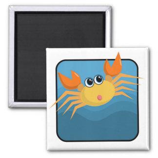 Cartoon Crab Refrigerator Magnet