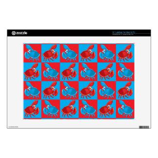 """Cartoon crab mosaic 13"""" laptop decal"""