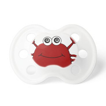 Beach Themed Cartoon Crab Pacifier