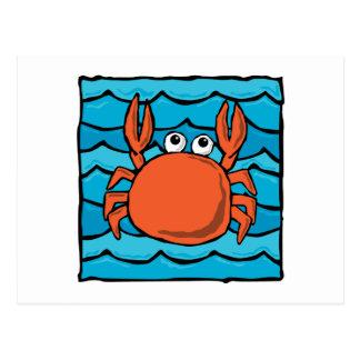 Cartoon Crab Post Cards