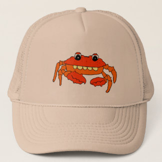 Cartoon crab trucker hat