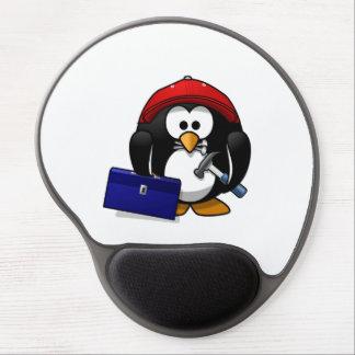 Cartoon Crafty Penguin Gel Mouse Mats