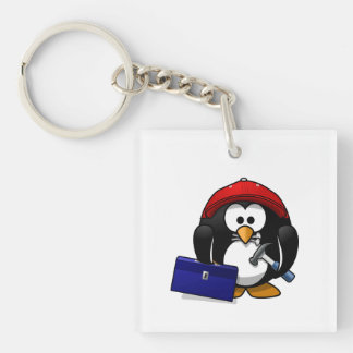 Cartoon Crafty Penguin Keychain