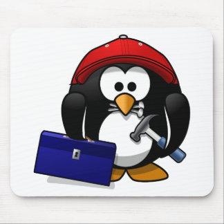 Cartoon Crafty Penguin Mouse Pad