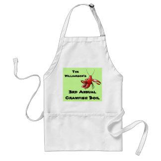 Cartoon Crawfish Boil Custom Name Annual Party Adult Apron