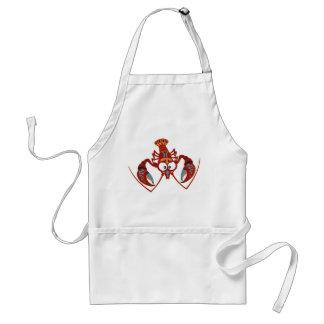 cartoon crayfish adult apron