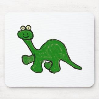 Cartoon Crayon Brontosaurus Collection Mouse Pad