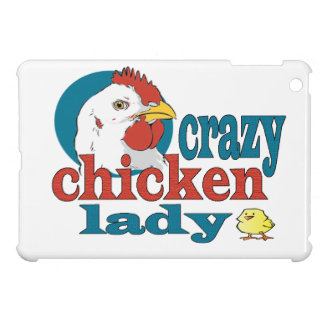 Cartoon Crazy Chicken Lady iPad Mini Cases
